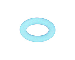 Turquoise Bay Recycled Glass Oval Ring 22x16mm