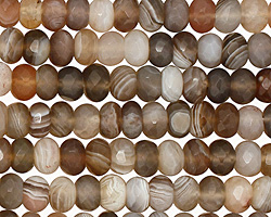Botswana Agate Faceted Rondelle 6mm