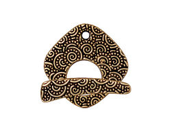 TierraCast Antique Gold (plated) Large Spiral Toggle Clasp 23x22mm, 24mm Ba
