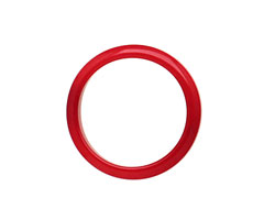 Tagua Nut Red Ring 22mm