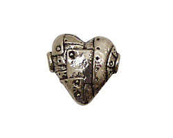 Green Girl Pewter Unbreakable Heart 20mm