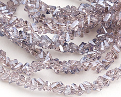 Lavender Crystal Faceted Chevron 2x4mm