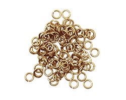 Artistic Wire Non-Tarnish Brass Chain Maille Jump Ring 3.57mm, 18 gauge