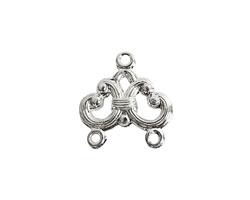 Nunn Design Sterling Silver (plated) Filigree Chandelier 16x17mm
