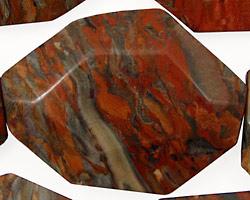 Gray Rainbow Jasper Faceted Flat Slab 35-45x25-35mm