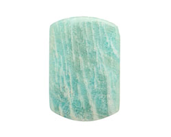 Brazil Amazonite Thin Pillow Pendant 37-46x26-30mm