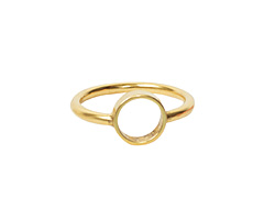 Nunn Design Antique Gold (plated) Open Frame Itsy Circle Ring Size 7