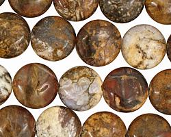 Pietersite Puff Coin 12mm