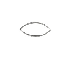 Nina Designs Sterling Silver Small Hammered Marquis Link 20x10mm