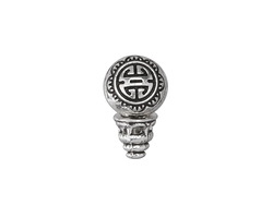 Zola Elements Antique Silver Finish Longevity Guru Bead 10x18mm