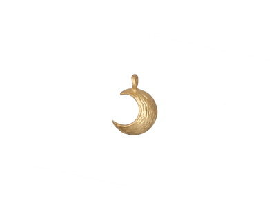 Zola Elements Matte Gold (plated) Textured Crescent Moon 7x9mm