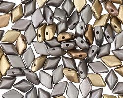 Matte Metallic Leather GemDuo 8x5mm Seed Bead