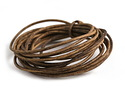 Weathered Brown Leather Cord 2mm