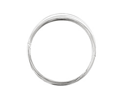 German Style Wire Silver (plated) Half Round 22 gauge, 5 meters