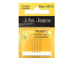 John James Size 10/13 Beading Needles