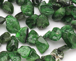Chrome Diopside Tumbled Nugget Drop 7-11x11-17mm