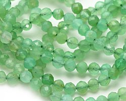 Chrysoprase (A) Faceted Round 4mm