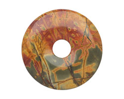 Red Creek Jasper Donut 40mm