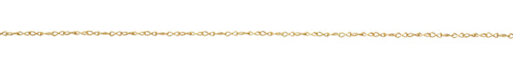 Satin Hamilton Gold (plated) Figure 8 Chain