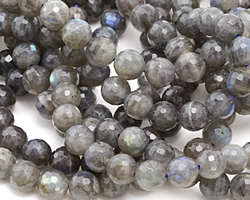 Labradorite Faceted Round 8mm