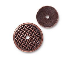 TierraCast Antique Copper (plated) Woven Disk 18mm