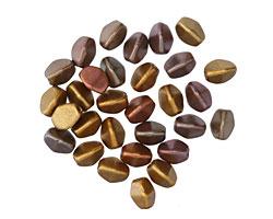 Czech Glass Autumn Metallics Pinch Bead 5x4mm