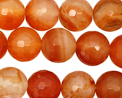 Carnelian (natural) Faceted Round 15-16mm