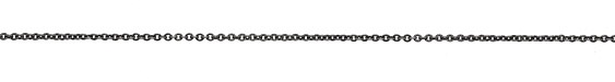 Antique Silver (plated) Etched Cable Chain
