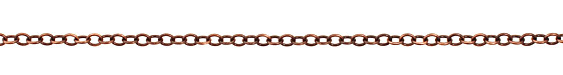 Antique Copper (plated) Oval Cable Chain