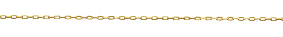 Satin Hamilton Gold (plated) Small Paperclip Chain, 25ft Spool