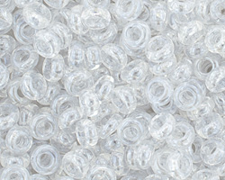 TOHO Transparent Lustered Crystal Demi Round 6/0 Seed Bead