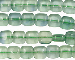 Green Fluorite (A) Puff Square 8mm