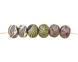 Humble Beads Polymer Clay Whispers & Wings Tiny Disk 7-8x8-10mm
