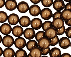 Chocolate Shell Pearl Round 8mm