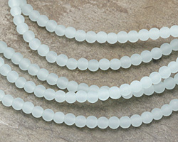 Opaque Seafoam Recycled Glass Round 4mm