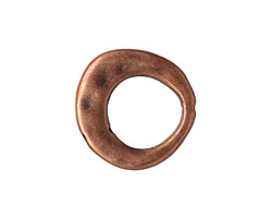 Antique Copper (plated) Open Oval 20x21mm