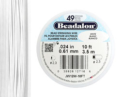 "Beadalon White .024"" 49 Strand Wire 10ft."