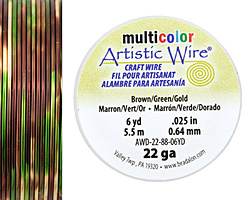 Artistic Wire MultiColor Brown/Green/Gold 22 Gauge, 6 Yards