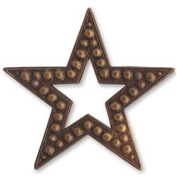 Vintaj Natural Brass Beaded Star 45mm