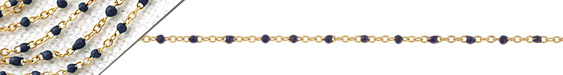 Gold (plated) Stainless Steel Navy Tiny Cable Chain
