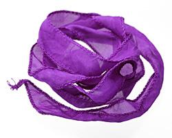 Amethyst Silk Ribbon 20mm