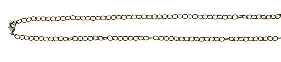 Vintaj Vogue Natural Brass Finished Extra Fine Oval Chain 18""