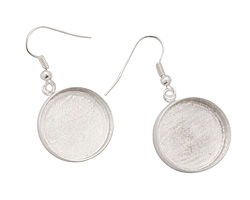 Silver (plated) Circle Bezel Earrings 19mm
