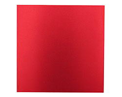 "Lillypilly Red Anodized Aluminum Sheet 3""x3"", 24 gauge"