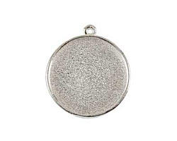 Nunn Design Sterling Silver (plated) Grande Circle Bezel Pendant 38x34mm