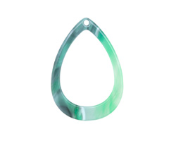 Zola Elements Emerald Marbled Acetate Open Drop Focal 22x31mm
