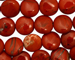 Red Jasper Puff Coin 12mm
