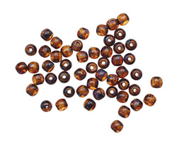 Czech Glass Smoky Topaz Picasso Round Druk 3mm