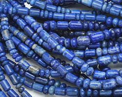 Denim Lapis Barrel Rondelle Graduated 2-9x4-6mm
