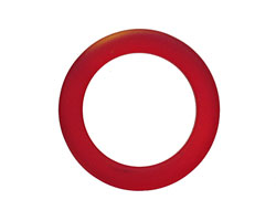Cherry Red Recycled Glass Ring 27mm